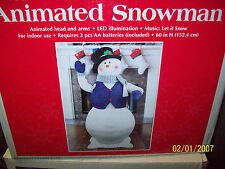 5ft Tall ANIMATED LIFE SIZE SINGING SNOWMAN NEW IN BOX