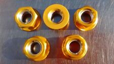 Gold Anodised Sprocket Nut Set for Honda XRV 750 Africa Twin from 1990- 2003