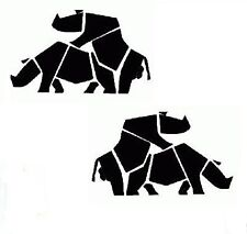 """2 x pegatina de """"de lomo de asno rinocerontes"""" - Suzuki-Vitara, 4x4 Off Road Jeep Dakar, Coche Furgoneta"""