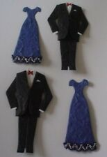 PAIR DINNER EVENING SUIT & NAVY DRESS DIE CUT EMBELLISHMENTS FOR CARDS/CRAFTS