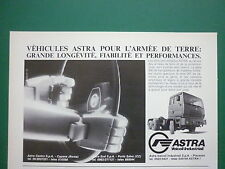 9/1986 PUB ASTRA VEICOLI INDUSTRIALI CAMION MILITAIRE MILITARY TRUCK FRENCH AD