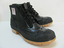 NEW Red Ball Safety ANSI  Z41.11967/83  Laced Ankle Boot Size 9M  Made in USA