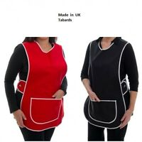 New Ladies Womans Plain Tabard  Apron 8 Colours 6 Sizes UK MADE! Best Quality
