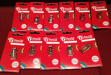 LONDON 2012 OLYMPICS COCA COLA COUNTRY FLAGS TELEPHONE BOXES 20 PIN BADGES RIO