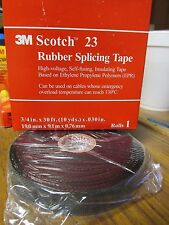 "NEW 3M Scotch 23 Rubber Splicing Tape 3/4"" x 30 ft (10 YDS.)  ........... UP-12"