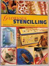 STENCILLING 20 projects.Wood paper,fabrics,glass etc Full Info & stencils(U117)