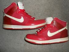 Nike Zoom Dunks  RED WHITE  Hi Top Basketball Shoes Mens sneakers size 10.5