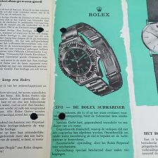 ROLEX VINTAGE 1964 Catalogo Opuscolo Submariner 5508 1675 5512 5513 PAN AM GMT