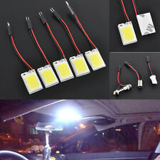 5PCS 18-LED COB Car Interior Dome Plate Lights White Bulb BA9S T10 Festoon 12V