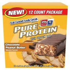 Pure Protein® Chocolate Peanut Butter Bar - 12 Count (1.76 oz each)