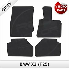 BMW X3 F25 2010-2016 Velcro Pads Tailored Fitted Carpet Car Floor Mats GREY