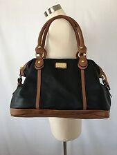 NINE WEST Womens Large Black & Brown Handbag, Satchel, Extra Strap Shoulder Bag