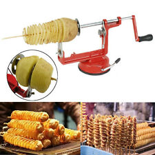 Stainless Steel Manual Veg Fruit Potato Twisted Spiral Slicer French Fry Cutter