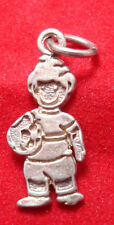 Sterling SILVER Charm SOCCER PLAYING CHILD