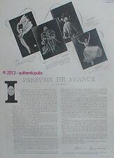 PUBLICITE PARFUM LANCOME PAR ANNE DUCAUX CONQUETE CUIR FLECHES DE 1943 FRENCH AD