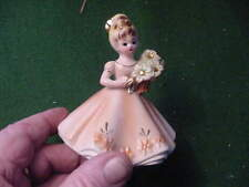 Josef Original 4 inch tall Figurine, Girl with Flowers