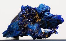 BRIGHT BLUE AZURITE CRYSTALS CLUSTER - FROM MOROCCO