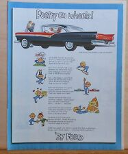 Vintage 1956 magazine ad for Ford - Poetry on Wheels, '57 Fairlane 500