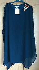 Urmoda black chiffon layered  tunic dress/ top size S 10