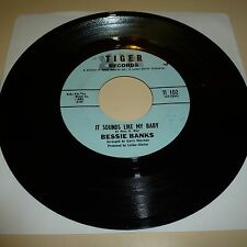 NORTHERN SOUL 45 RPM RECORD - BESSIE BANKS - TIGER 102