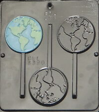 World Lollipop Chocolate Candy Mold  3320 NEW