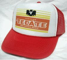 Vintage Tecate Beer Trucker Hat Mesh Hat Snap Back Hat *NEW red auction
