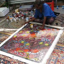 ABORIGINAL ART PAINTING by GABRIELLA POSSUM 'MY GRANDMOTHER's COUNTRY' WIP