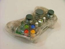 Blanc personnalisé crystal clear wireless controller shell case for xbox 360 pad