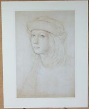 """Portrait of a Young Man"" - Raphael - Genuine Litho Print"