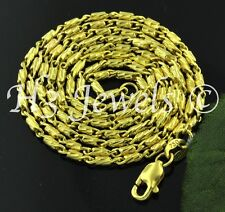 7.30 grams 18k solid yellow gold diamond cut bead chain necklace italian 16 inch