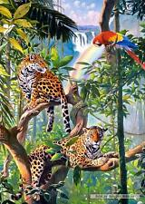 1000 pcs jigsaw puzzle: Relax in the Jungle (Birds, Leopards) - Castorland