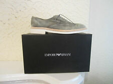 Emporio Armani Washed Suede Derby Shoes