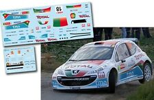 Decal 1:43 Bruno Magalhaes - PEUGEOT 207 S2000 - Rally Ypres Ieper 2011