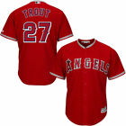Los Angeles Angels of Anaheim Mike Trout Majestic Scarlet Cool Base Player Jerse