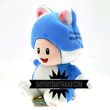SUPER MARIO 3D WORLD CAT TOAD PELUCHE blu wiiu pupazzo new plush gatto blue neko