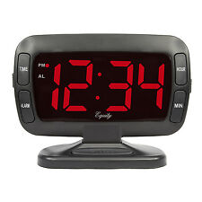 "30016 Equity by La Crosse 1.8"" Red LED Tilt Display Digital Electric Alarm Clock"