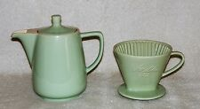 Vintage Melitta Ceramic Coffee Pot with Cone Filter Pour Over Drip        n64