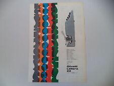 advertising Pubblicità 1962 OLIVETTI LETTERA 22