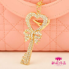 Newest Sparkly Bling Bling Crystal Gift Cute Cat Purse Key ring chain