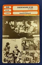 US Marx Brothers Movie Go West Groucho Harpo Chico French Film Trade Card