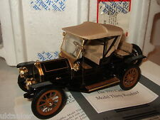 Rare franklin mint B11RU75 1910 cadillac model thirty roadster en échelle 1:24.