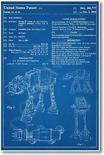 Star Wars AT AT Patent - NEW Invention Patent Movie Art POSTER