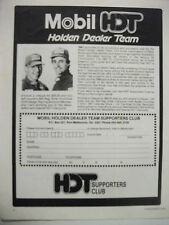 1987 PETER BROCK MOBIL HDT SUPPORTERS CLUB FULLPAGE MAGAZINE ADVERTISEMENT