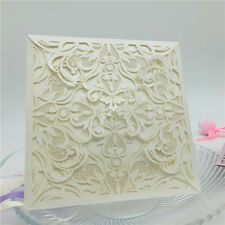 12pcs Personalized Wedding Party Laser Cut Invitation Cards & Printing Handmade