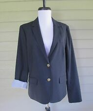 Gap Womens Navy Blue Wool Blend Stretch Schoolboy Boyfriend Blazer Jacket  12
