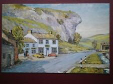 POSTCARD YORKSHIRE KILNSEY - WHARFEDALE - PAINTING BY E CHARLTON TAYLOR