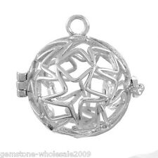 1PC Hollow Box Pendant Bola Angel Cage Star Pattern Sound Bell Beads DIY