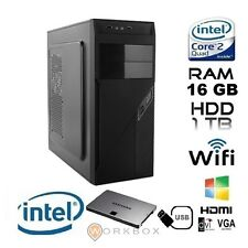 PC DESKTOP NUOVO COMPLETO FISSO INTEL QUAD CORE ALANTIK RAM 16 GB 1TB HDMI WIFI