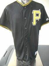Majestic MLB Pittsburgh Pirates Cool Base Youth Blank Black Jersey LOOK S