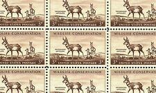1956 - PRONGHORN ANTELOPE - #1078 Full Mint -MNH- Sheet of 50 Postage Stamps